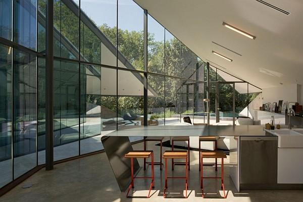 minimalist metal kitchen