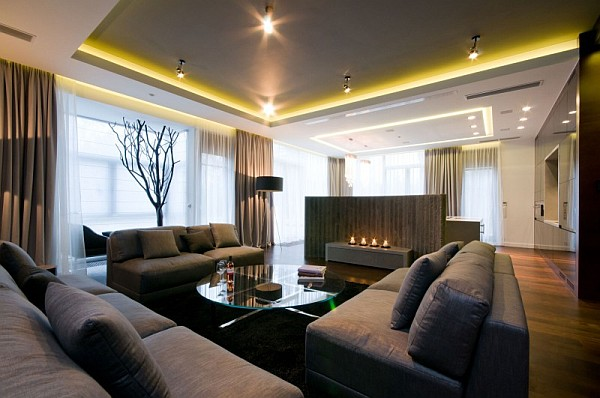 modern apartment in Poland Sophisticated Apartment Design With Inimitable Charm in Warsaw