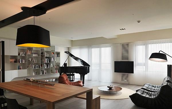 modern asian living room