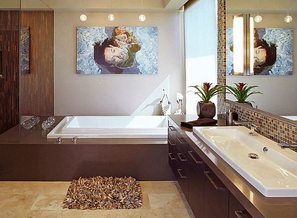 Modern bathroom with fancy sink design