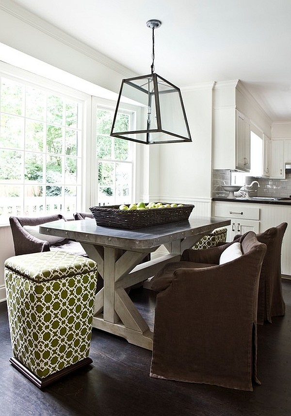 Modern dining table in the kitchen