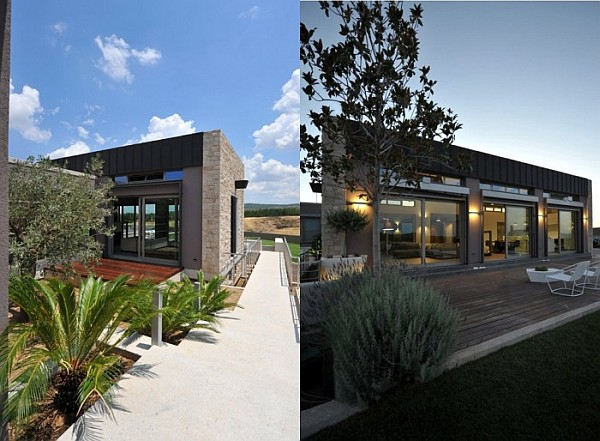 View in gallery modern exterior with stone and glass