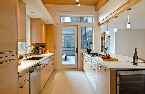 Galley kitchen design ideas that excel for Converting galley kitchen to open kitchen