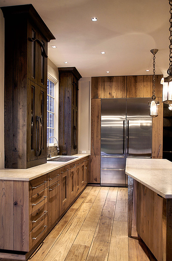 Modern rutic kitchen cabinetry