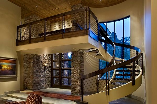 Choosing The Perfect Stair Railing Design Style: inside staircase in houses