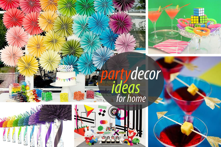 Unique party decor to spice up your entertaining for Home party decorations