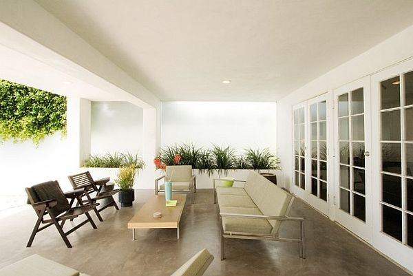 Polished stained concrete flooring for your patio