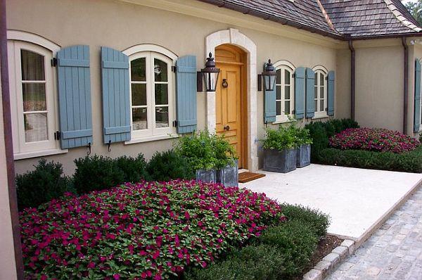 purple flower beds