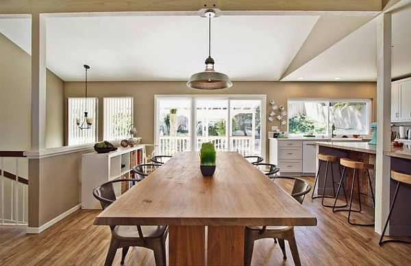 Rustic modern kitchen decor decoist for Modern kitchen table