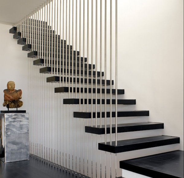 Modern idea for stair railings