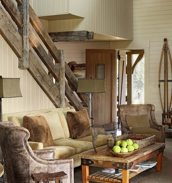 stair railing rustic design