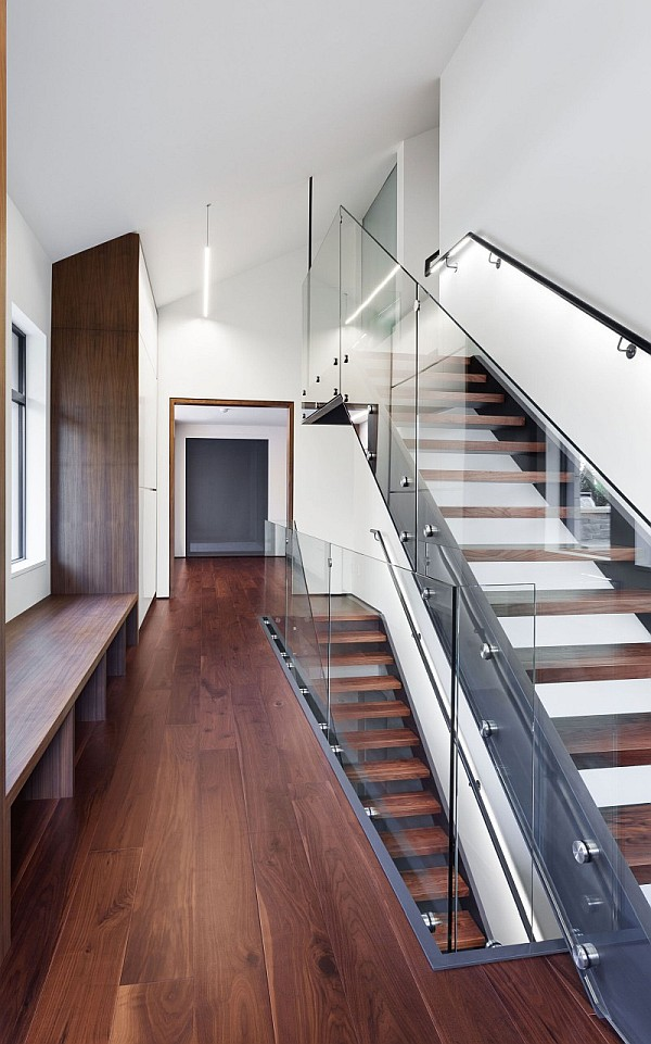 staircase with glass handle - montreal