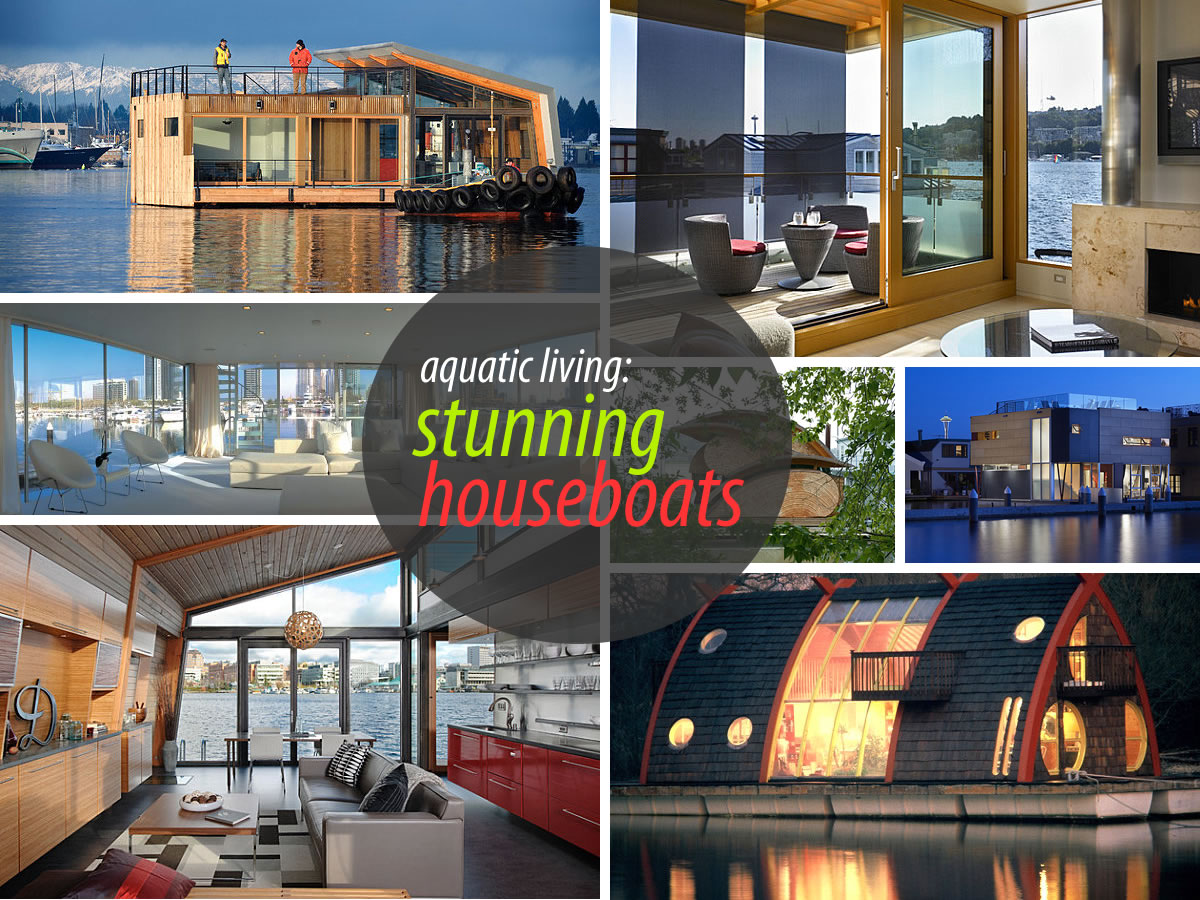 stunning houseboats Stunning Houseboats for Aquatic Living