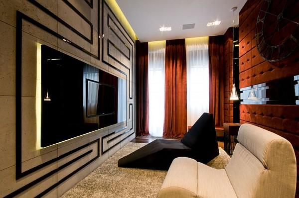 stunning media room