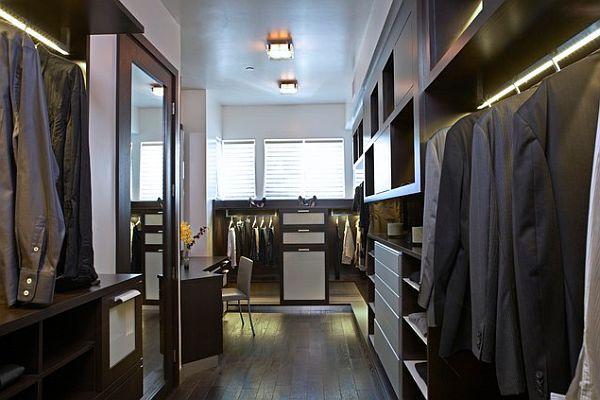 Stylish winter closet organization