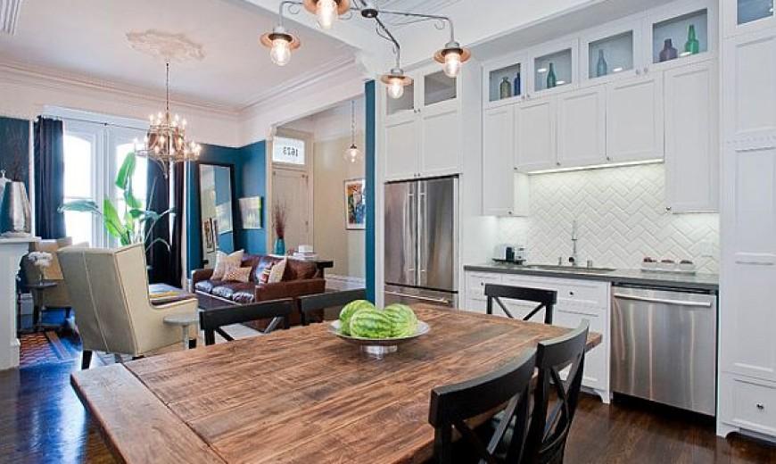 stylish wooden kitchen table