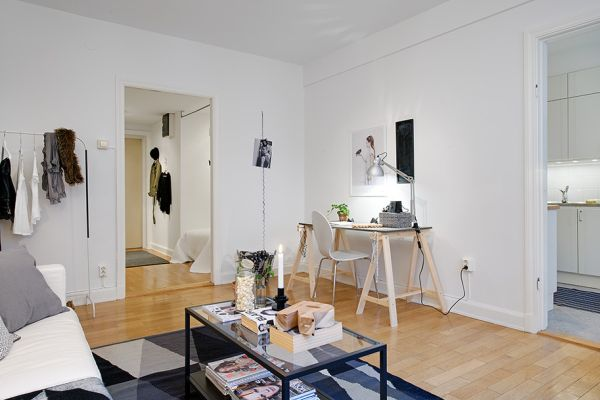 Tiny Swedish Apartment Showcases How to Decorate Small Living Spaces ...