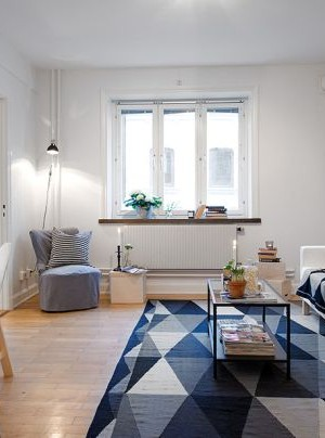 swedish interior design - tiny apartment