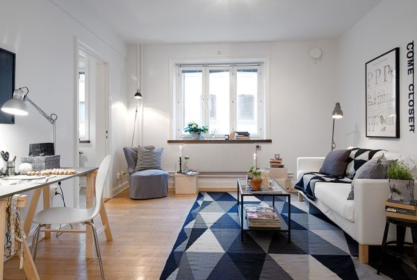 Tiny Swedish Apartment Showcases How to Decorate Small Living ...