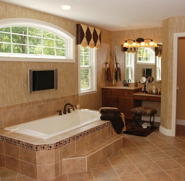 Incredible bathroom designs you 39 ll love for Bathroom ideas tan