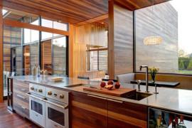 Delightful Modern Kitchens Wearing A Wooden Skin