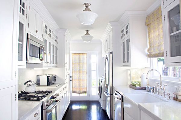 White Galley Kitchen Design galley kitchen design ideas that excel
