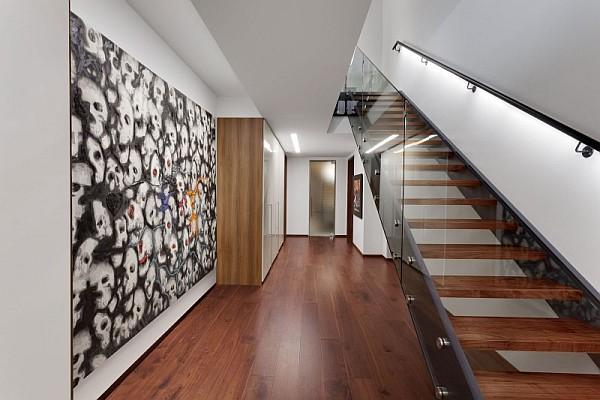 ultra modern hallway design - montreal