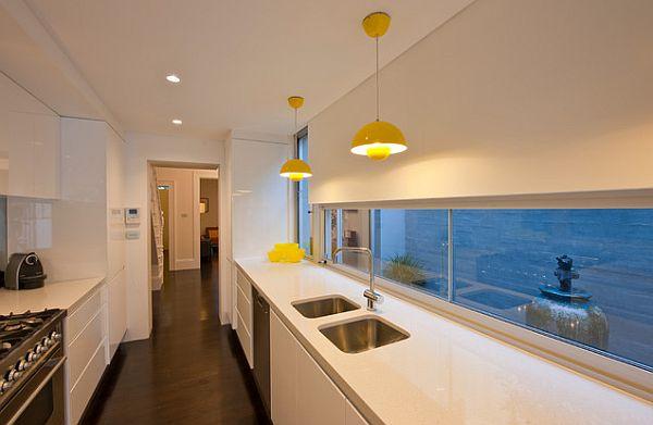ultra modern kitchen galley