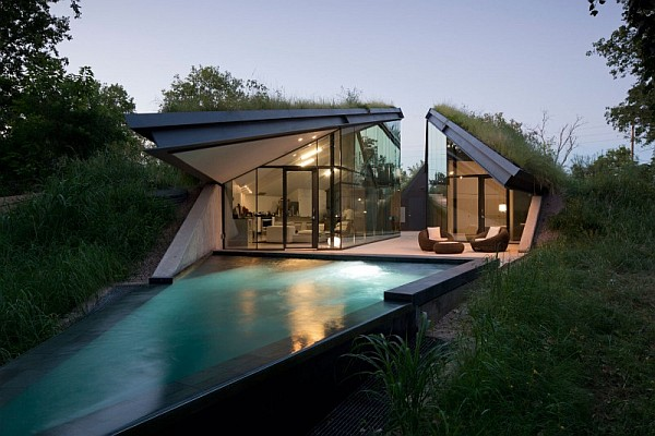 undeground house with pool