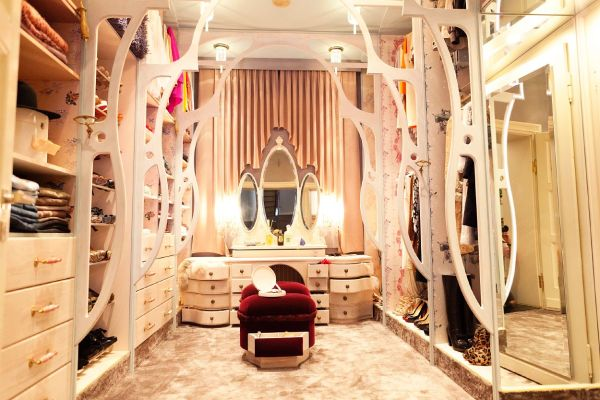 A vanity in a closet is the perfect addition.