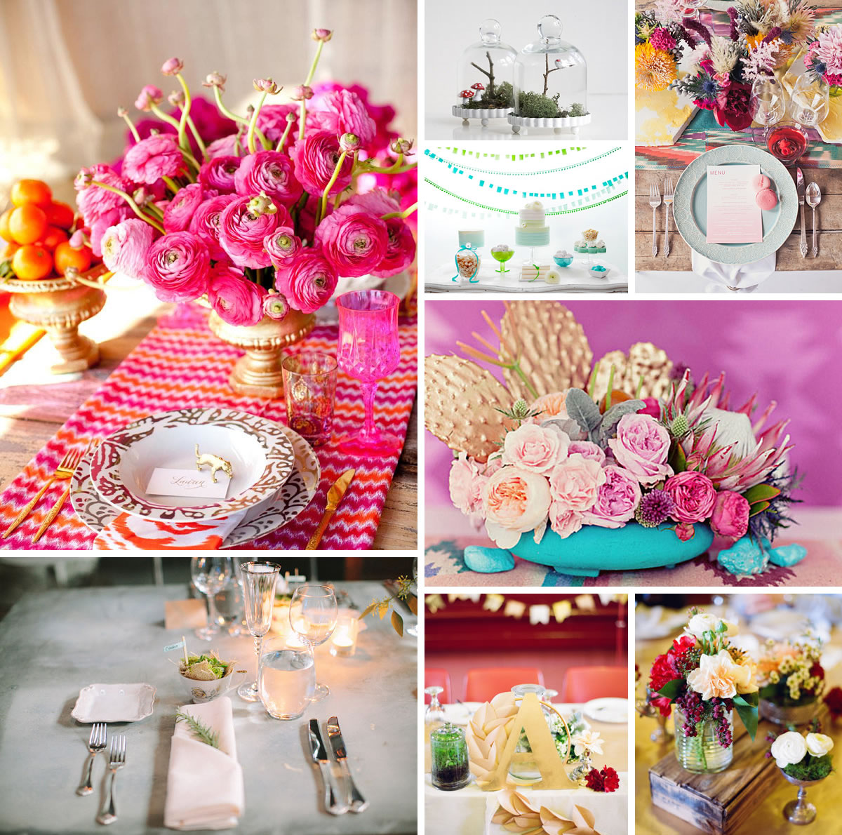 20 wedding table decor ideas for Wedding party table decorations