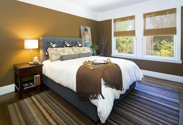 winter guest room browns