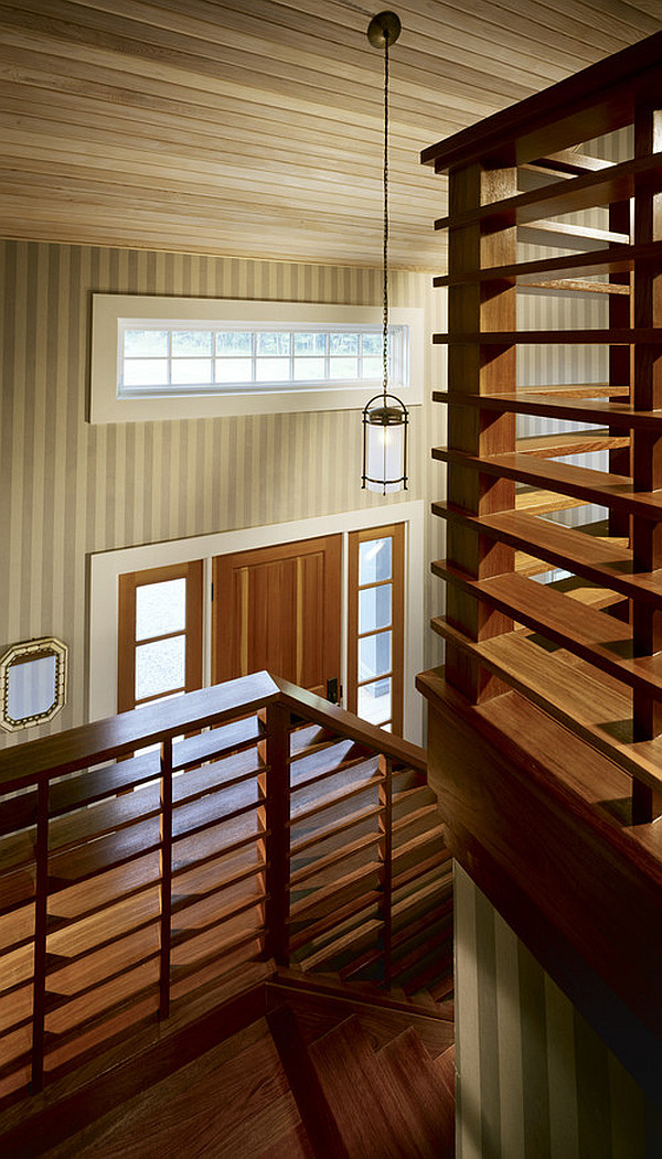 View In Gallery Cool Wooden Stairs Railings