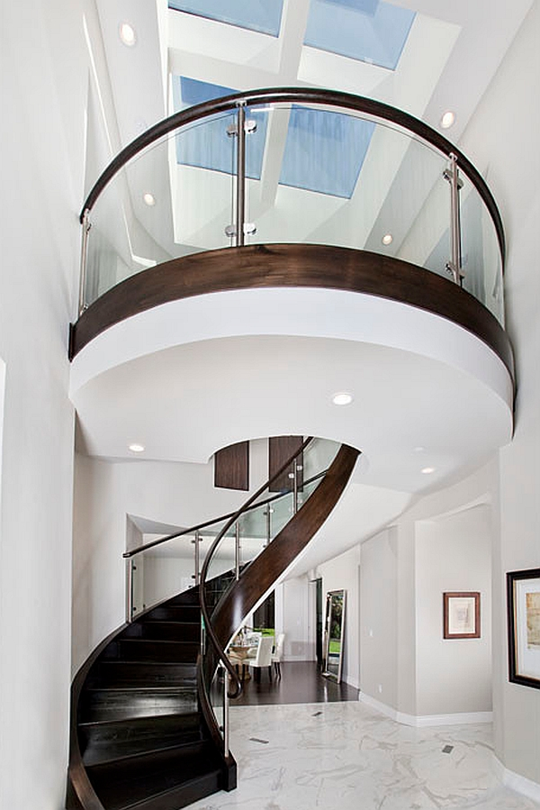 A grand staircase for the modern home