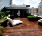 A modern rooftop garden