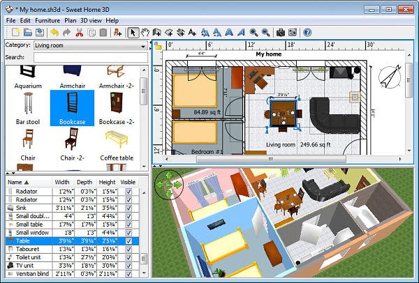 A screen shot from Sweet Home 3D