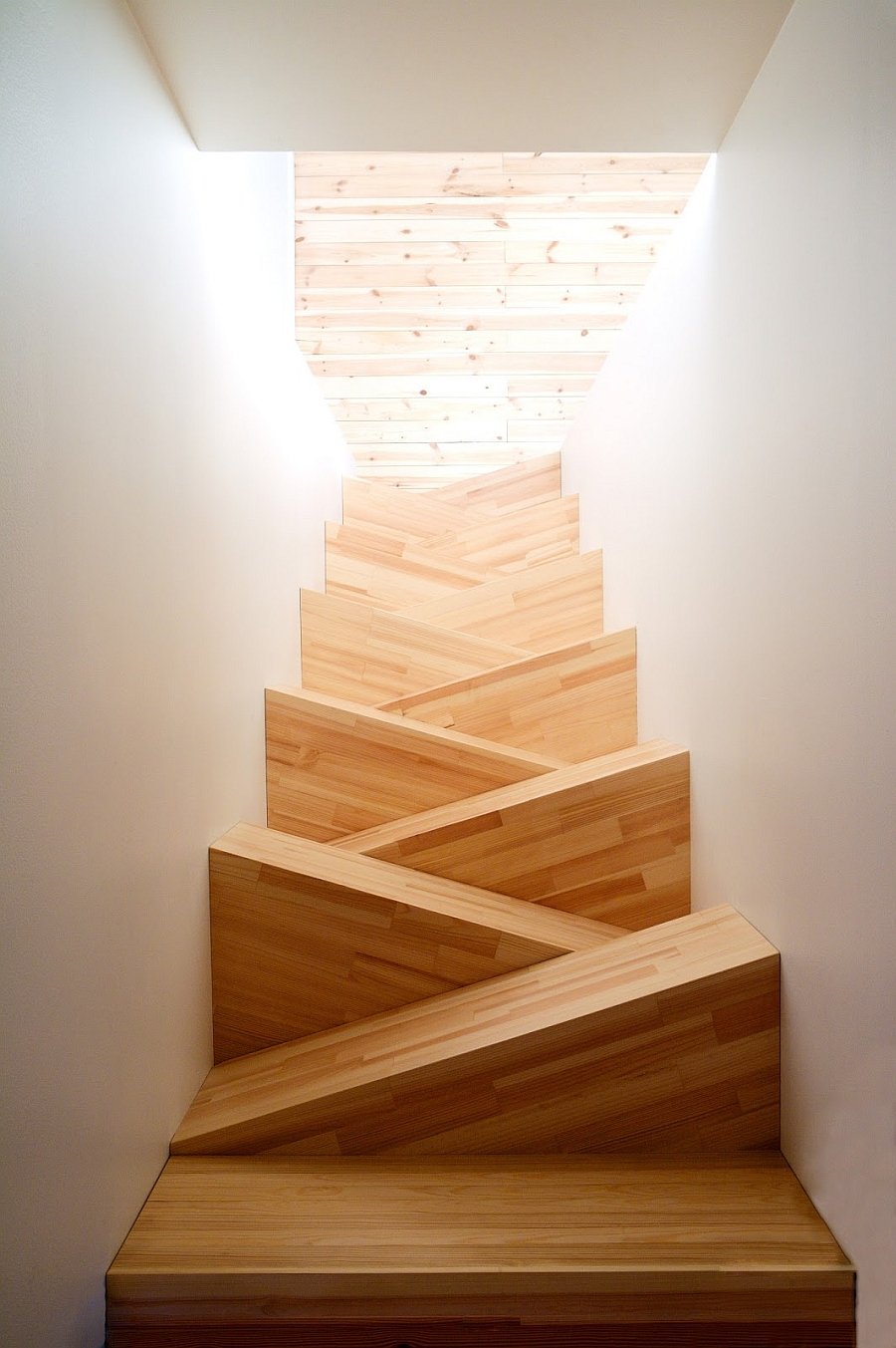 Abstract set of stairs would be great for a small space