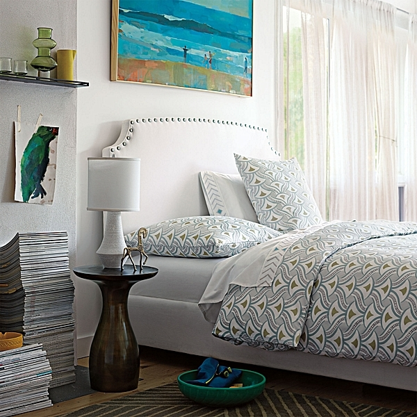 Art Deco-style bedding for spring