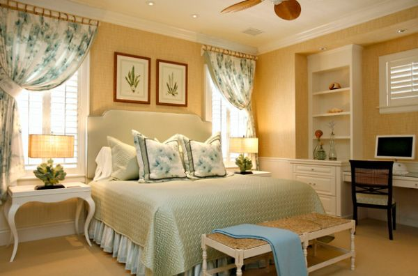 Beautiful bedroom with traditional interiors that is easy on the eye