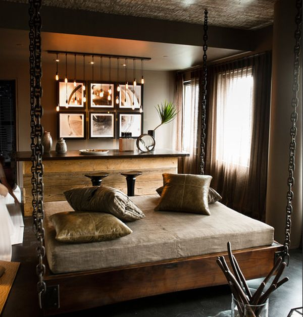 29 hanging bed design ideas to swing in the good times for Beautiful contemporary bedrooms