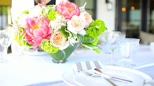 Beautiful party floral centerpiece
