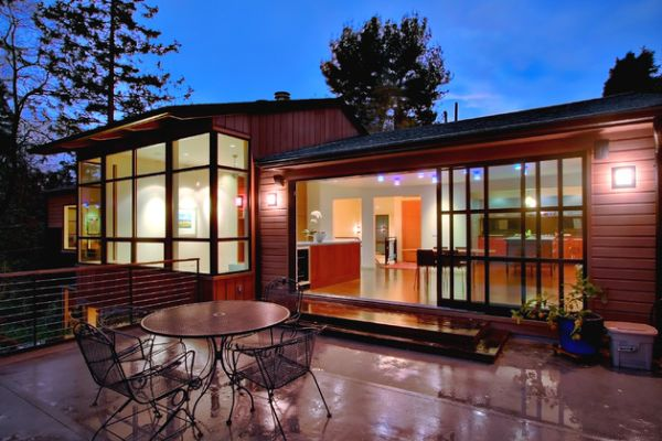 Beautifully lit contemporary home with sliding glass doors 40 Stunning Sliding Glass Door Designs For The Dynamic Modern Home