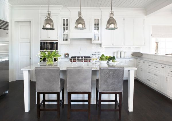 White Kitchen Lighting 55 beautiful hanging pendant lights for your kitchen island view in gallery benson pendant lights bring an antique touch to this modern white kitchen workwithnaturefo