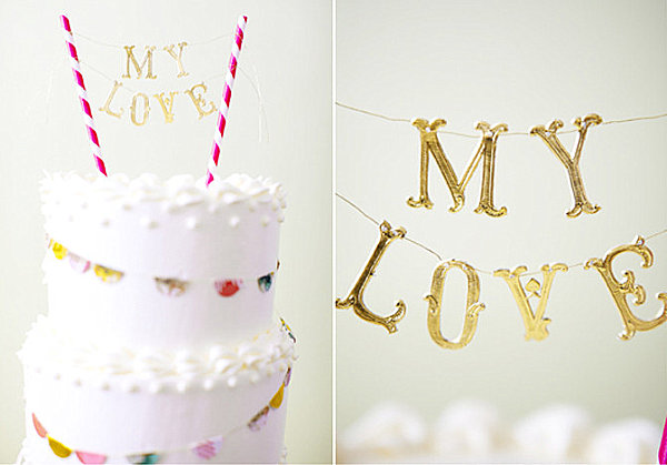 Cake topper DIY project
