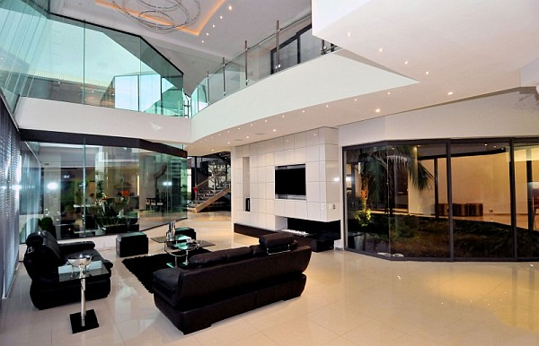 Dazzling modern south african home charms with elegant - Casas de ensueno interiores ...