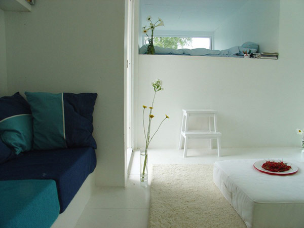 Casa Kolonihagen Norway white living area
