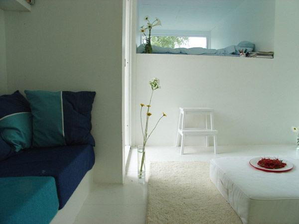 Casa Kolonihagen Norway white living area