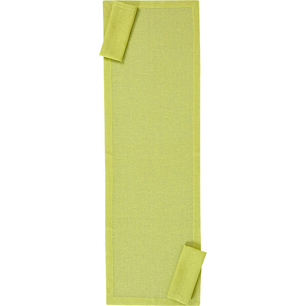 Chartreuse linen placemat and napkins