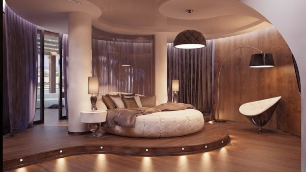 View In Gallery Circle Bed Used Well Can Turn Your Bedroom Into A Luxury  Hotel