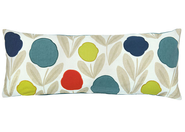 Coloful floral throw pillow
